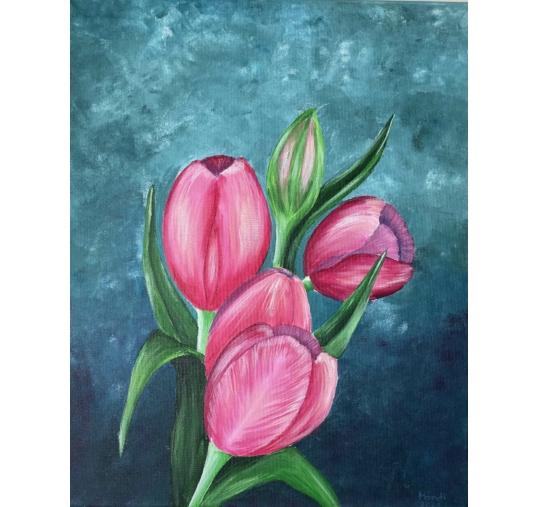 Tulipán élményfestés