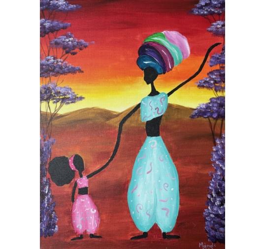 Afrika élményfestés