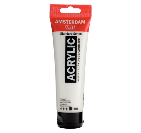 Talens Amsterdam akrilfesték, FEHÉR 120 ml - 105  Titanium White
