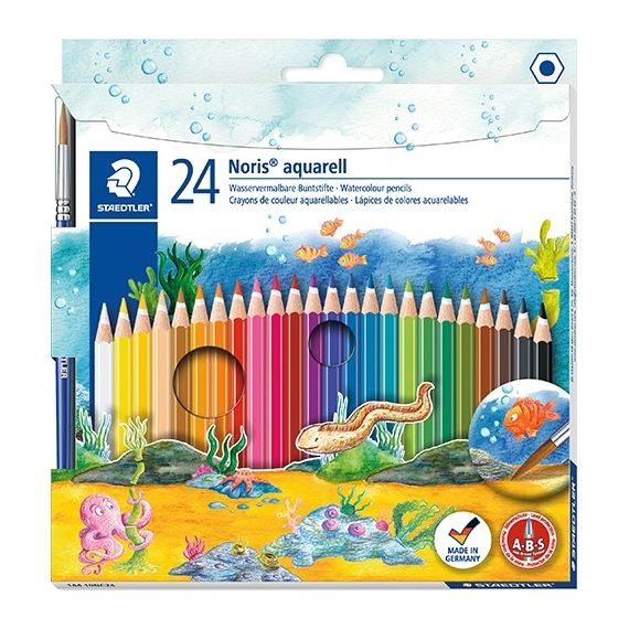 Staedtler Noris Club akvarell 24 db-os színes ceruzakészlet